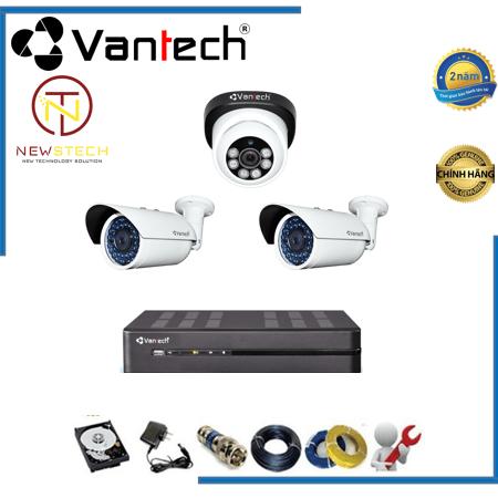 Lắp đặt trọn bộ 3 camera vantech full HD