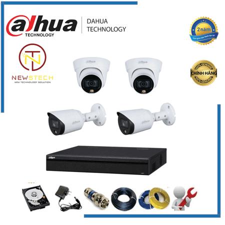Trọn bộ 4 camera Dahua full HD