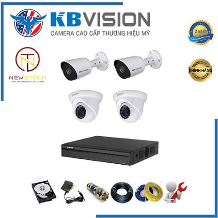 Trọn bộ 4 camera kbvision full HD