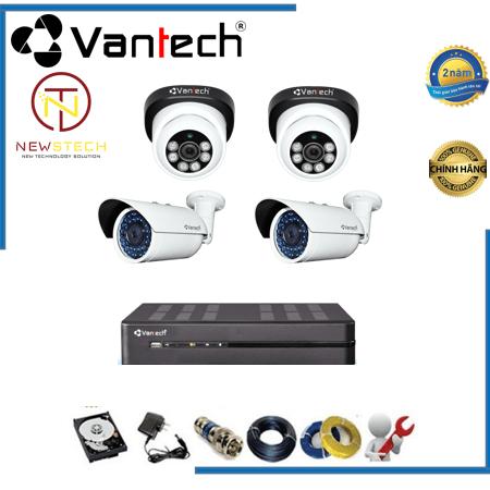 Lắp đặt trọn bộ 4 camera vantech Full HD