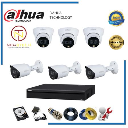 Trọn bộ 6 camera Dahua độ phân giải full HD