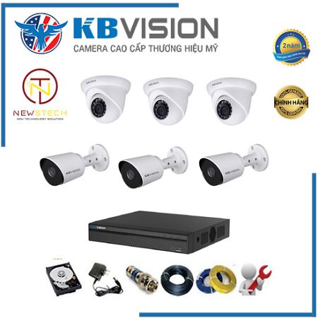 Trọn bộ 6 camera kbvision full hd