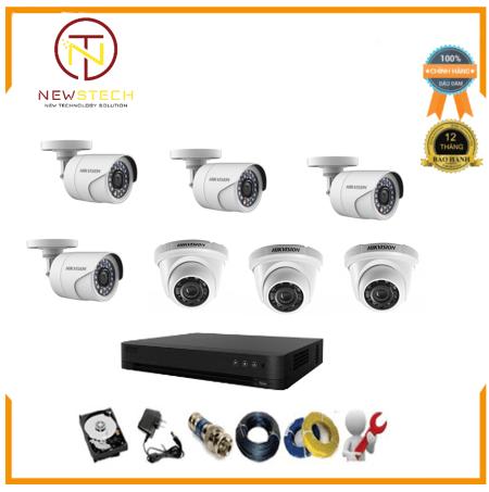 Trọn bộ 7 camera Hikvision độ phân giải Full HD