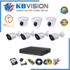 Trọn bộ 7 camera Kbvision full HD