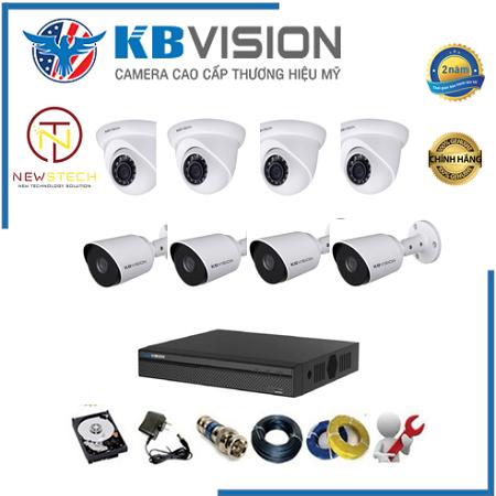 Trọn bộ 8 camera kbvision full HD