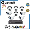 Lắp đặt trọn bộ 8 camera vantech full HD