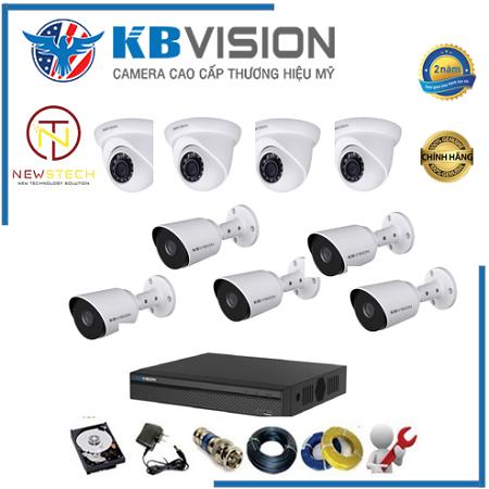 Lắp đặt trọn bộ 9 camera Kbvision Full HD