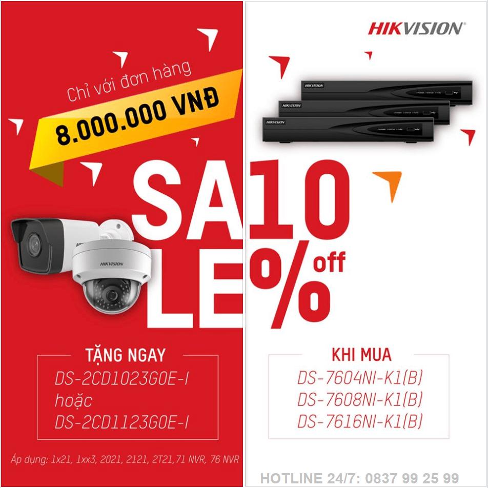 khuyến mãi lắp đặt camera Hivision