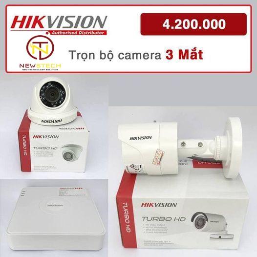 Khuyến mãi lắp đặt trọn bộ 3 camera ip hikvision